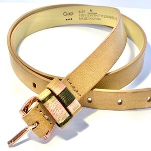 Rose Gold Stitched Belt GAP Brown Belts